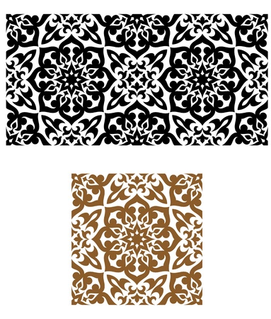 arabesque wallpaper: Arabic seamless ornament in retro style for background design