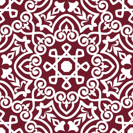 arabesque antique: Abstract arabic or persian seamless ornament for background design