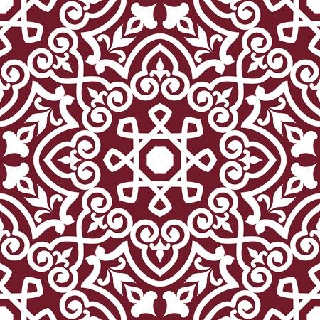 arabesque: Estratto arabo o persiano ornamento senza soluzione di continuit� per la progettazione di sfondo