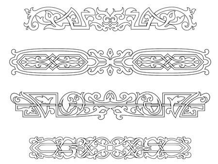 Retro ornaments and borders set in victorian style Stock Vector - 19089935
