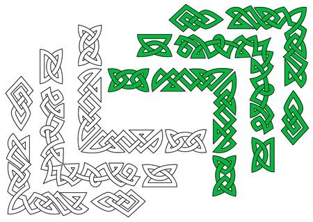 occult: Fronteras y patrones en el estilo del ornamento celta para el dise�o y ornamentado Vectores