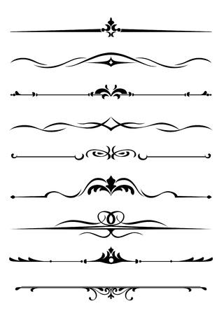 Fronteras y monogramas establecidas en el estilo vintage para el diseño