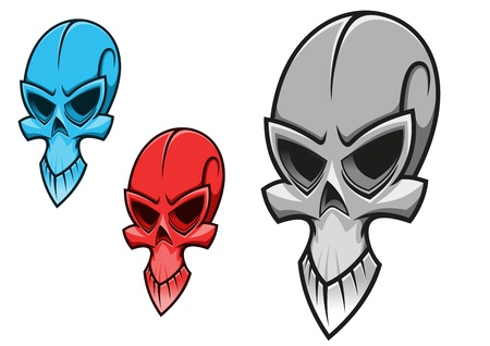 Dead scary skull for tattoo or halloween holiday design Vector