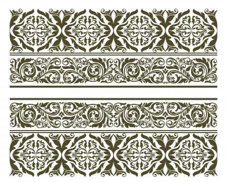 Retro ornament in floral style for border or embellishment design Stock Vector - 19560754