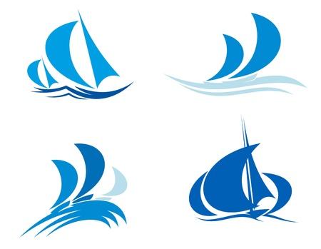 Jachty i łodzie w regatach żeglarskiego sportu dla projektu