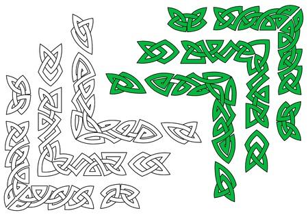celtico: Ornamenti celtici e modelli per la progettazione e abbellimenti Vettoriali