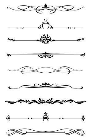 Dividers and borders set in medieval style Stock Vector - 19560785
