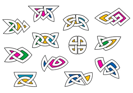 Shapes and elements set in celtic ornament style for design Stock Vector - 19976367