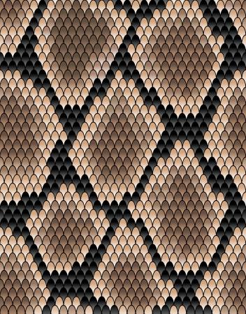 serpiente de cascabel: Modelo inconsútil de la piel de serpiente para el diseño de fondo Vectores