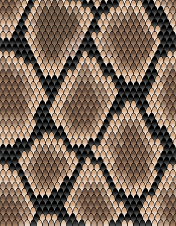 Seamless pattern of snake skin for background design Vector