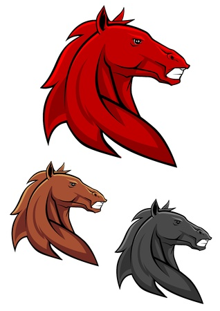Powerful stallion in cartoon style for mascot or tattoo design Vector