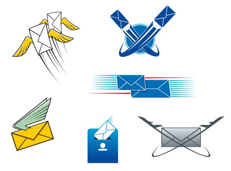 Post mail and letters symbols for postal service concept design Stock Vector - 20325247