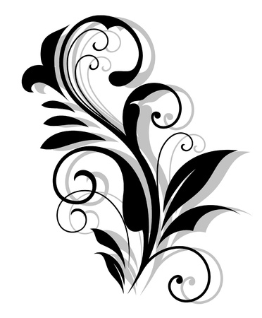 Curly floral embellishment in vintage style for retro design Stock Vector - 20444250