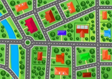 locality: Map of suburb for real estate or navigation design