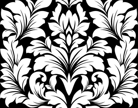 embellishments: Damask seamless pattern with retro floral elements