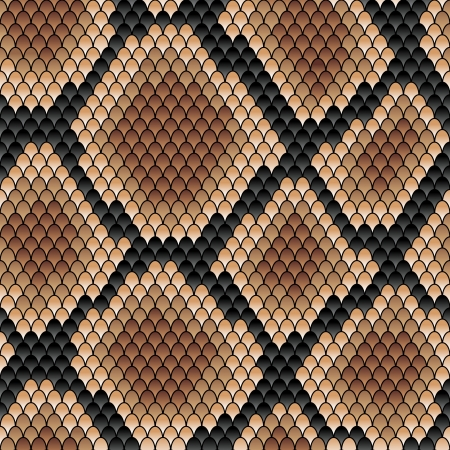 snake skin: Brown snake seamless patternfor background or fashion design