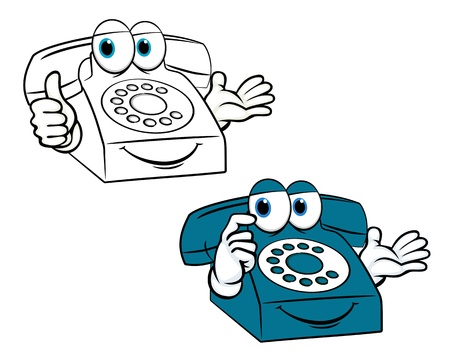 Smiling phone in cartoon style for communication design Vector