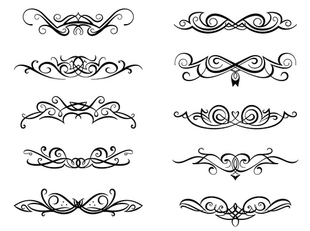 Vignettes and monograms set in vintage floral style for design Stock Vector - 20721613