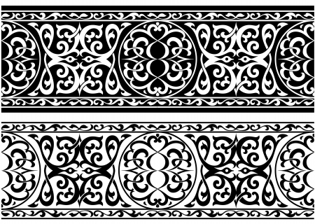 Decorative arabian or persian ornament in medieval style Vector