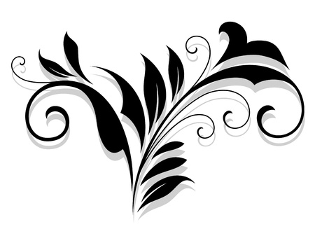 Flourish design element with shadow for design Stock Vector - 21077888