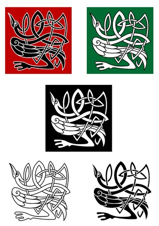Celtic ornament with heron bird for tattoo or decorative design elements Stock Vector - 21077889