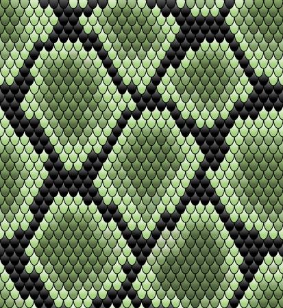 serpiente cobra: Patrón de piel de serpiente inconsútil verde para el diseño de fondo