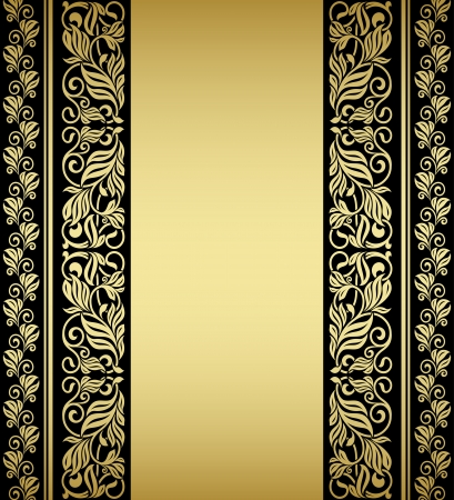 Gilded floral elements and patterns in retro style Stock Vector - 21077900