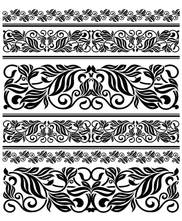 Floral ornament elements and embellishments for design Vector