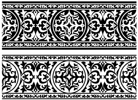 Decorative ornament with floral elements and embellishments Stock Vector - 21317764