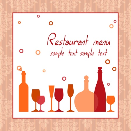 Alcohol bar or restaurant menu background design
