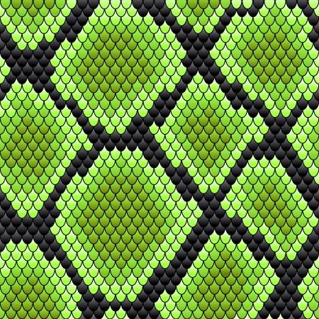 背景デザインの爬虫類スキンの緑のシームレスなパターン