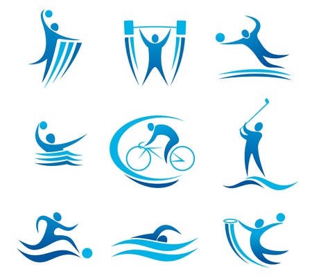 Symboles de sport et de pictogrammes pour toute compétition et la conception de championnat Banque d'images - 21528879