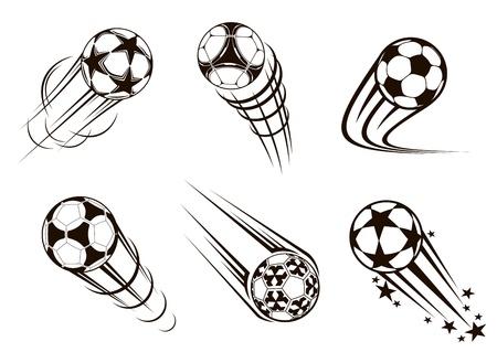 Fußball und Fußball-Embleme für Sport-und WM-Design