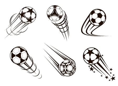 sport balls: Soccer and football emblems for sport and championship design