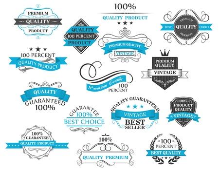 レトロなラベル、ヘッダー、および設定したデザイン書道要素