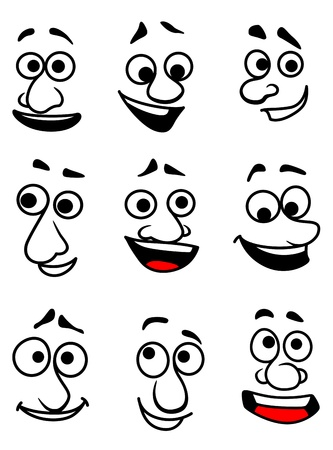 sneer: Emotional faces in cartoon style for comics design