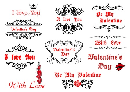 Calligraphic elements and scripts for Valentine's Day holiday design Stock Vector - 22068934