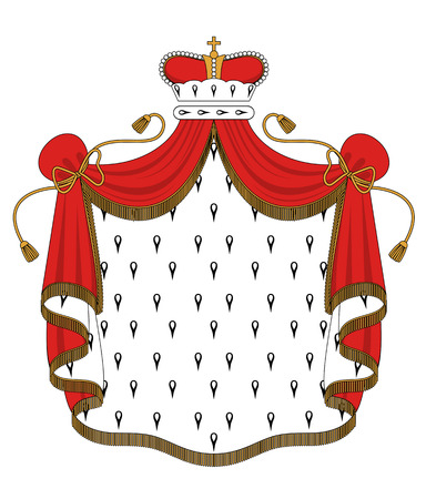 mantle: Royal mantle with crown for heraldry design Illustration