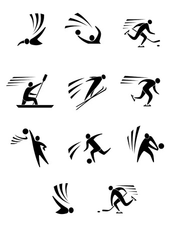 Athlets and players for different sports elements or design Vector