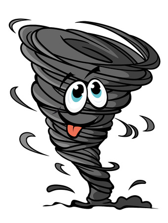 Funny hurricane in cartoon style for mascot or weather design Stock Vector - 22365201