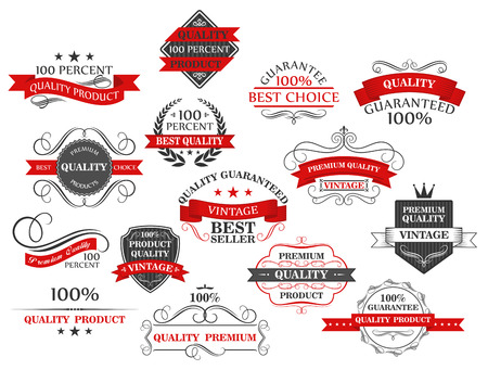 ribbons: Retro banners and labels for retail business or web design