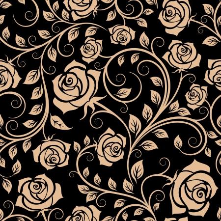 배경 디자인을위한 장미 꽃과 원활한 패턴
