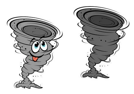 デザインや天候の概念のためのマスコット スタイルで漫画ハリケーン  イラスト・ベクター素材