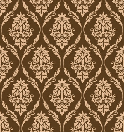 Brown floral seamless pattern for background design