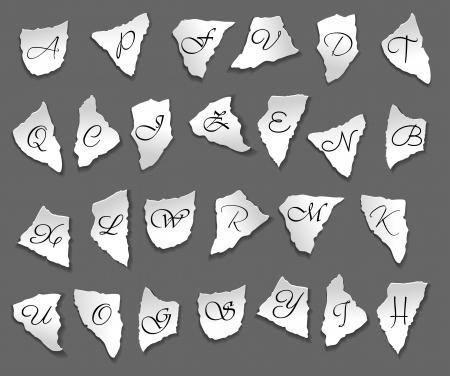 bits: Vintage letters on bits of paper for any design