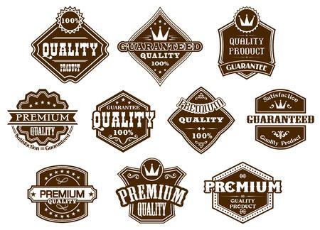 Etichette e striscioni fissati in stile occidentale per la progettazione Archivio Fotografico - 23884297