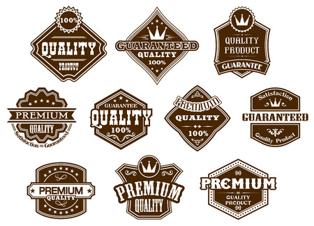 Labels and banners set in western style for design Illustration
