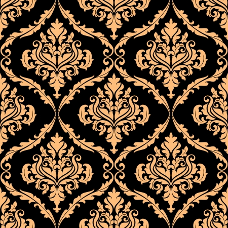 Damask floral pattern with brown colours for background design Stock Vector - 24169172