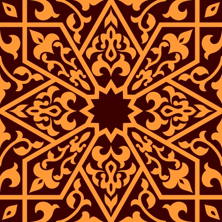Arabian eastern seamless ornament for background design Vector