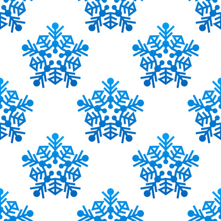 Snowflakes seamless pattern background for winter and christmas design Vector